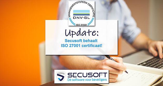 Secusoft behaalt ISO 27001 certificaat! - Secusoft, dé software voor beveiligers