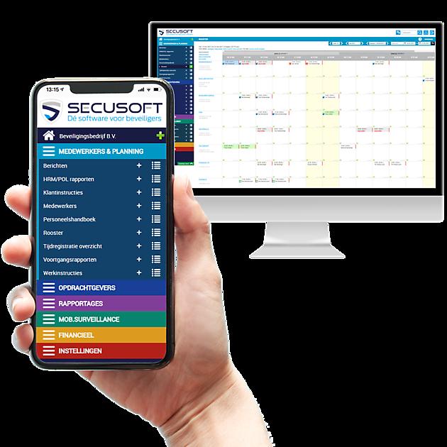 Complete planningssoftware en rapportagesoftware speciaal ontworpen voor beveiligingsbedrijven - Secusoft, dé software voor beveiligers