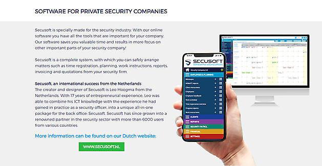 Secusoft.com en Secusoft.be zijn online! - Secusoft, dé software voor beveiligers