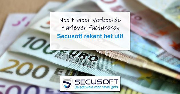 Onze tarievenmodule bespaart je tijd en geld - Secusoft, dé software voor beveiligers