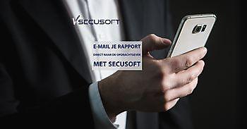 Rapport direct mailen naar opdrachtgever SecuSoft Software Beveiligingsbedrijven