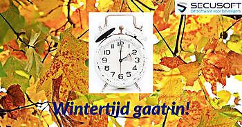 Ingang wintertijd zondag 25 oktober 2020 Secusoft, dé software voor beveiligers