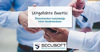 Uitgelichte functie: Documenten inzichtelijk voor medewerkers Secusoft, dé software voor beveiligers