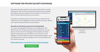 Secusoft.com en Secusoft.be zijn online! Secusoft, dé software voor beveiligers