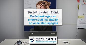 Statuspagina toont actuele status Secusoft Secusoft, dé software voor beveiligers