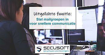 Mailgroepen module uitgebreid Secusoft, dé software voor beveiligers