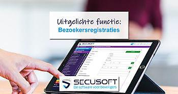 Bezoekers registreren wordt eenvoudig met Secusoft Secusoft, dé software voor beveiligers